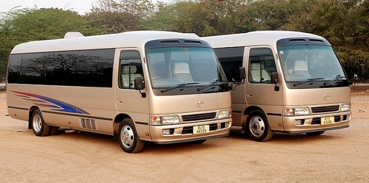 10 Seater Toyota Van hire India, Toyota Coaster Van Rental ...  Minivan