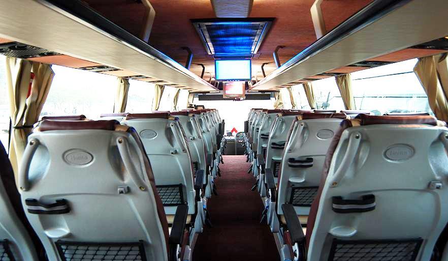 45 Seater Mercedes Bus Booking Delhi, Mercedes Benz Coach Hire India