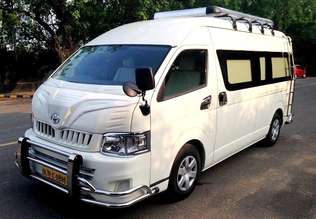 7 Seater Toyota Hiace Van Rental Delhi Toyota Minivan