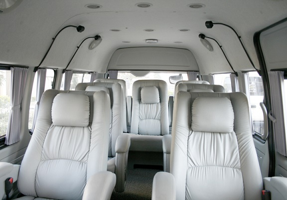 Hire 9 Seater Toyota Commuter Van Delhi Toyota Passenger Rental Service India Toyota Commuter