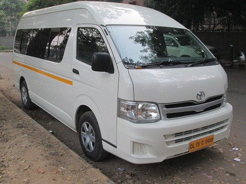 seater toyota hiace van india passenger luxury rental